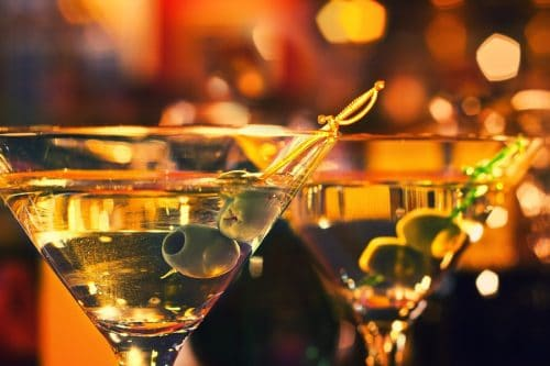 nightlife with classic martini